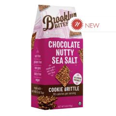 BROOKLYN BITES CHOCOLATE NUTTY SEA SALT COOKIE BRITTLE 6 OZ POUCH