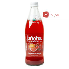 BUCHA LIVE KOMBUCHA ORGANIC GRAPEFRUIT SAGE 16 OZ BOTTLE