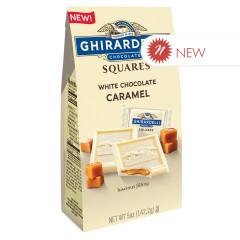 GHIRARDELLI SQUARE WHITE CHOCOLATE CARAMEL 5 OZ POUCH