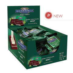 GHIRARDELLI - SQUARES - DARK CHOCOLATE & MINT - .53OZ