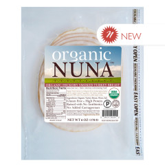 ORGANIC NUNA - SMOKED TURKY BREAST PRE - SLCED - 6OZ
