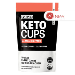 EATING EVOLVED - KETO CUPS - ALMOND BUTTER - 4.93OZ