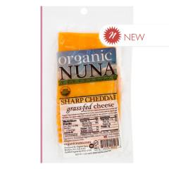 ORGANIC NUNA - SHARP CHEDDAR CHEESE PRE - SLICED - 5OZ