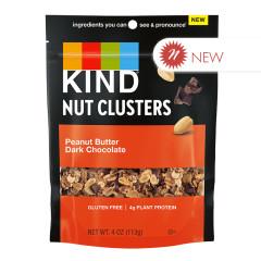 KIND - NUT CLUSTERS - PEANUT BUTTER DARK CHOCOLATE - 4OZ