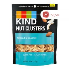 KIND - NUT CLUSTERS - ALMOND & COCONUT - 4OZ