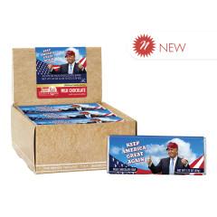 AMUSEMINTS TRUMP KEEP AMERICA GREAT CHOCOLATE BAR 1.75 OZ