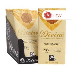 DIVINE - WHITE CHOCOLATE BAR - 3OZ
