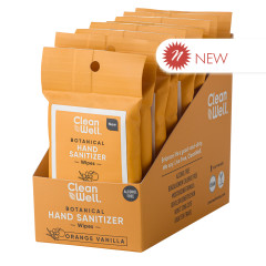 CLEANWELL - HAND SANITIZER WIPES - ORNG(10CT) - 8CT