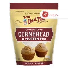 BOB'S RED - CORNBRED & CORN MEAL MUFFIN MIX - 24OZ