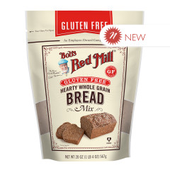 BOB'S RED - GLUTEN FREE - HEARTY WHOLE GRAIN BREAD MIX - 20OZ