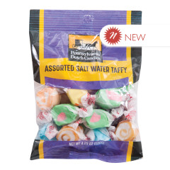 PDC CLEAR WINDOW BAG SALT WATER TAFFY PEG BAG 4.25 OZ