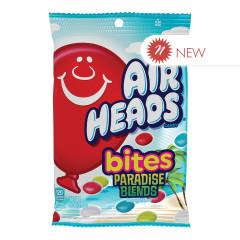 AIRHEADS BITES PARADISE BLEND 6 OZ PEG BAG