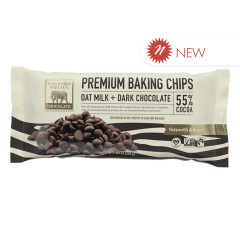 ESC - ZEBRA - OAT MILK DARK CHOCOLATE BAKING CHIPS - 55% - 10OZ