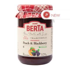 AUNT BERTA PEACH BLACKBERRY PRESERVES 12.3 OZ JAR