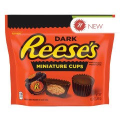 REESE'S DARK CHOCOLATE  MINI PEANUT BUTTER CUP 10.2 OZ POUCH