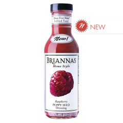 BRIANNA'S RASPBERRY POPPY SEED DRESSING 12 OZ BOTTLE