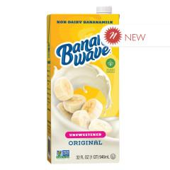BANANA WAVE UNSWEETENED BANANA MILK 32 OZ TETRA PACK
