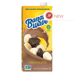 BANANA WAVE CHOCOLATE BANANA MILK 32 OZ TETRA PACK