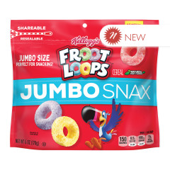 KELLOGG'S FROOT LOOPS MULTI SERVE BAG 6 OZ POUCH