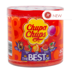 CHUPA CHUPS ASSORTED THE BEST OF 60 COUNT TUB