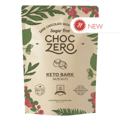 CHOCZERO NO SUGAR ADDED KETO BARK MILK CHOCOLATE HAZELNUT 6 OZ