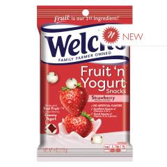 WELCH'S FRUIT N YOGURT STRAWBERRY SNACKS 4 OZ PEG BAG