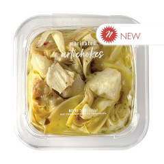 DELALLO QUARTERED ARTICHOKES MARINATED IN OIL 7.5 OZ TUB