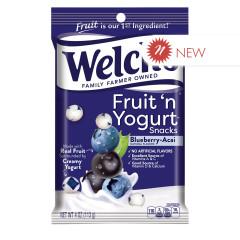 WELCH'S FRUIT N YOGURT SNACKS BLUEBERRY 4 OZ PEG BAG