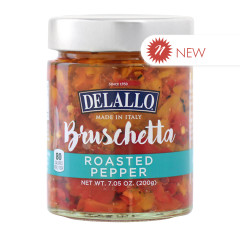 DELALLO ROASTED PEPPER BRUSCHETTA 7.05 OZ JAR