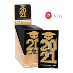 CLEVER CANDY GRAD CLASS 2021 MILK CHOCOLATE 3 OZ BAR