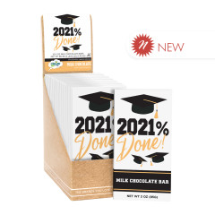 CLEVER CANDY GRAD 2021% DONE MILK CHOCOLATE 3 OZ BAR