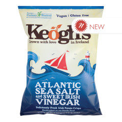 KEOGH'S IRISH POTATO CRISPS ATLANTIC SEA SALT & CIDER VINEGAR 4.4 OZ BAG