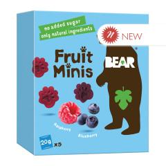 BEAR FRUIT MINIS RASPBERRY BLUEBERRY 3.5 OZ BOX