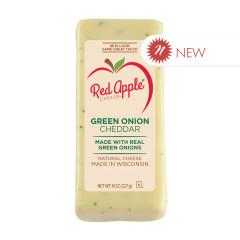 RED APPLE GREEN ONION CHEDDAR 8 OZ