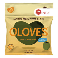 OLOVES PITTED GREEN OLIVES LEMON AND ROSEMARY 1.1 OZ