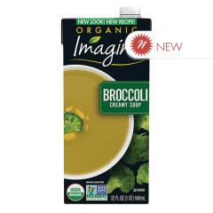 IMAGINE ORGANIC CREAMY BROCCOLI SOUP 32 OZ TETRA PACK