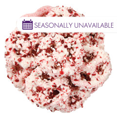 NASSAU CANDY MINI YOGURT PRETZELS WITH CRUSHED PEPPERMINT