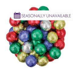 MADELAINE CRISP MILK CHOCOLATE FOILED CHRISTMAS BALLS