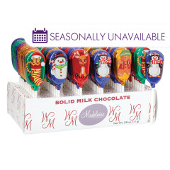 MADELAINE MILK CHOCOLATE FOILED CHRISTMAS 0.38 OZ LOLLIPOP