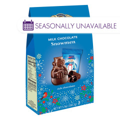 GHIRARDELLI MILK CHOCOLATE SNOWMEN 5.9 OZ MEDIUM BAG
