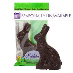 MADELAINE DARK CHOCOLATE SITTING RABBIT 2.5 OZ