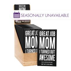 AMUSEMINTS GREAT JOB MOM 3 OZ MILK CHOCOLATE BAR