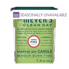 MRS. MEYER'S IOWA PINE SOY CANDLE 7.2 OZ JAR