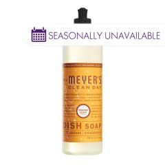 MRS. MEYER'S ORANGE CLOVE LIQUID DISH SOAP 16 OZ BOTTLE