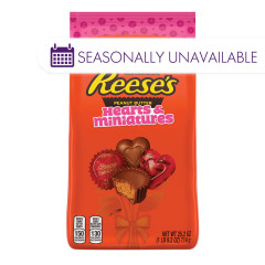 REESE'S HEARTS MINIATURES 25 LB POUCH