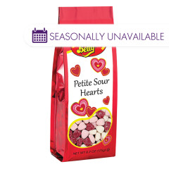 JELLY BELLY PETITE SOUR HEARTS 6.2 OZ GIFT BAG