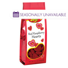 JELLY BELLY RED RASPBERRY HEARTS 5.5 OZ GIFT BAG