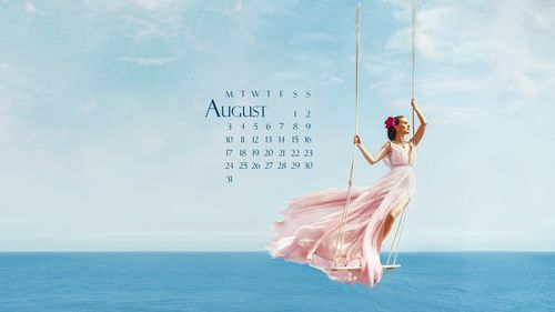 Calendar Wallpaper For August