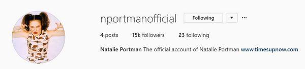 Natalie joins Instagram