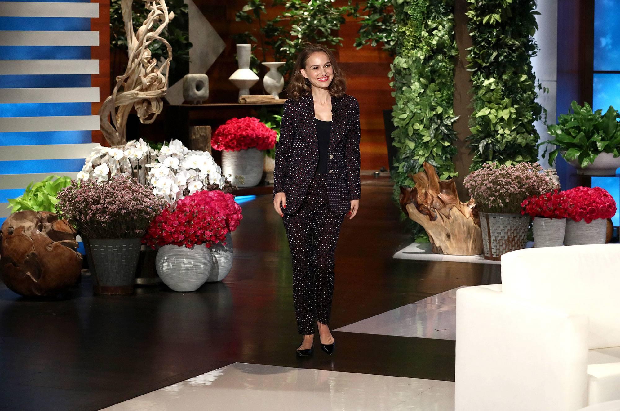 Natalie in the Ellen Show Tonight